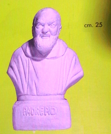 STAMPO GOMMA: padre pio 3d