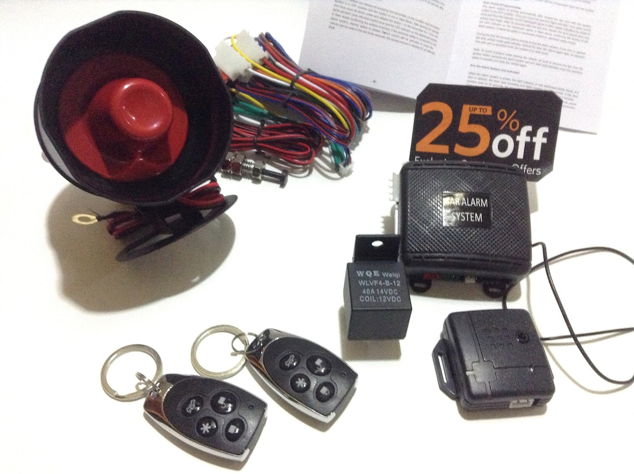 Car Alarm Security System KIT PROFESSION