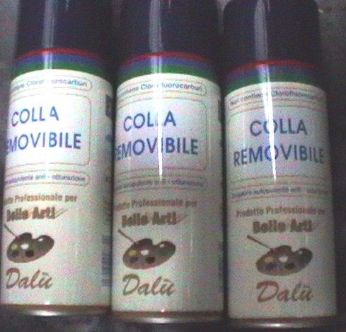 Colla Spray removibile