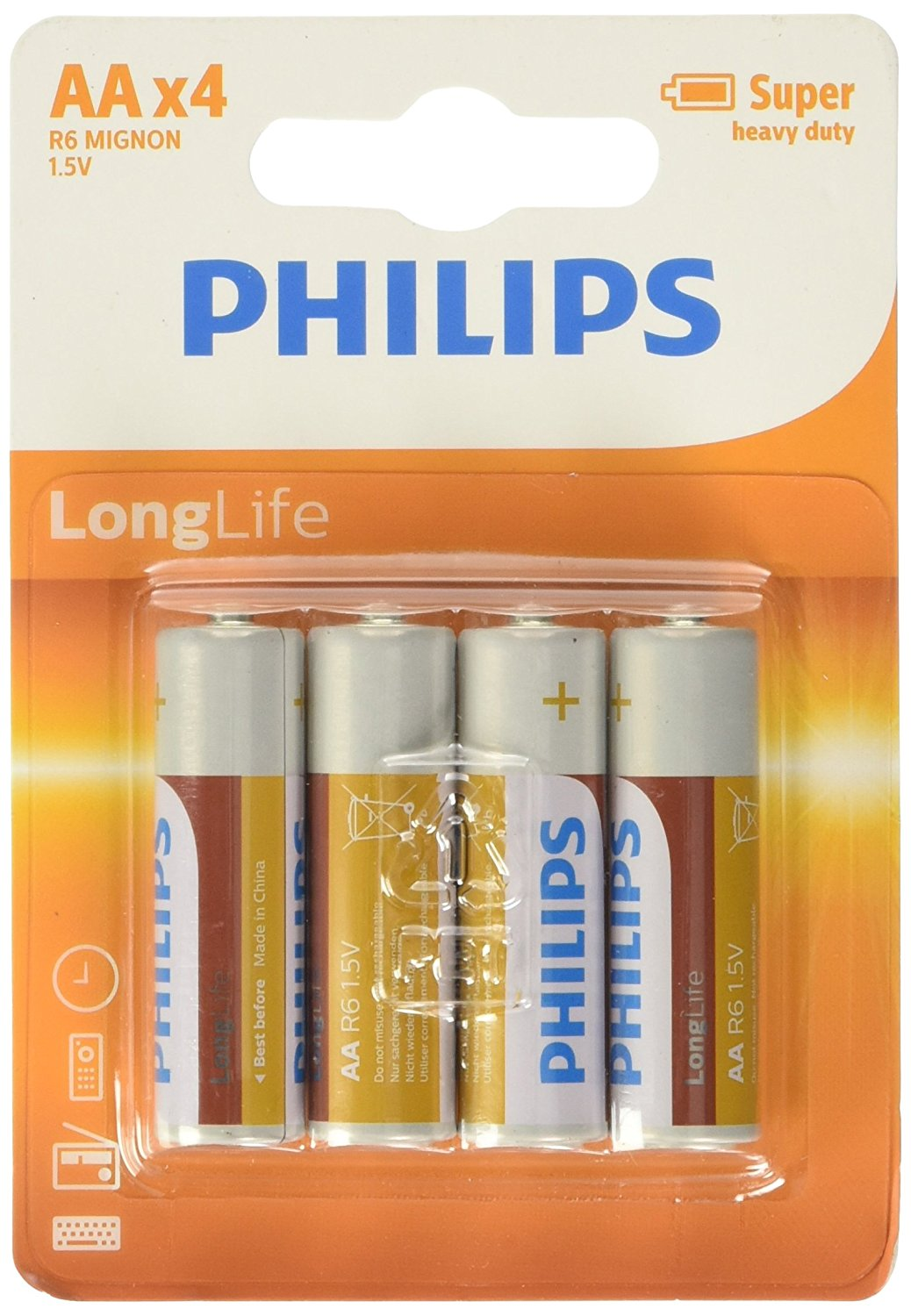 BATTERIA philips BLISTER 4 PZ. STILO - AA X 4