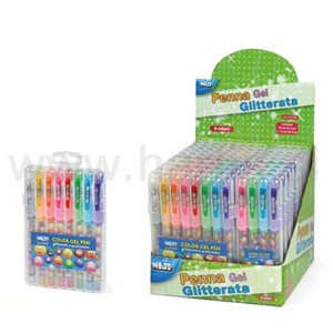 set 8 penne gel glitterate e profumate SMILE