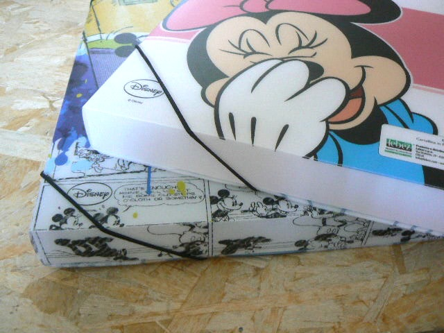 CARPETTA CON ELASTICO DISNEY IN PP LARGA - CARTELLINA DISNEY