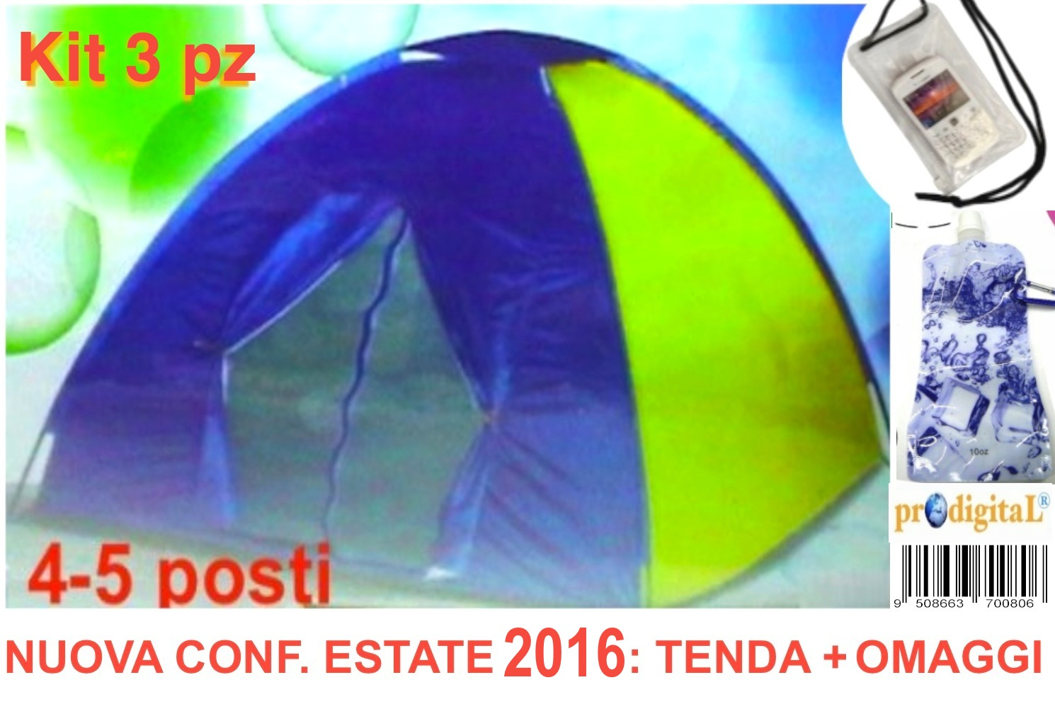 TENDA IGLOO Stile Canadese da 4 POSTi