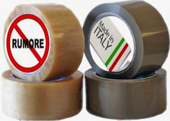 ROTOLO NASTRO IMBALLO MARRONE Made in Italy 90 mt.