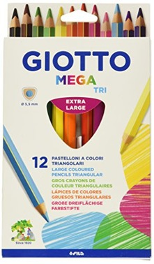 Pastelli Giotto Mega Scatola 12 matite colorate assorti